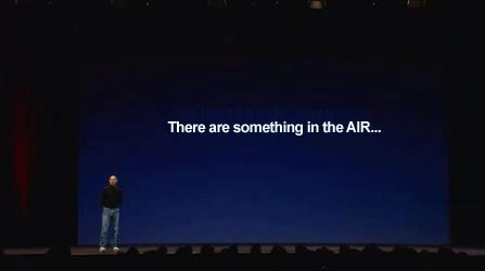 Steve jobs Something in the air